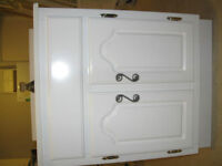 Bathroom Vanity White solid wood cabinet no MDF 24 inches wide