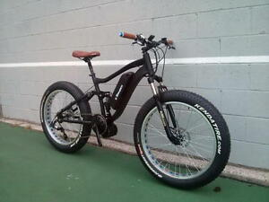 Electric MID DRIVE Fat Bike full suspension