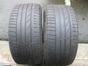 set of 255/35/18 and 225/40/18 RE050a run flat bridgestone tires