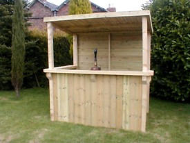 Garden bar and sheds open or enclosed made with or without a roof