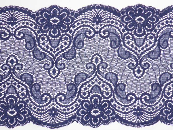 5 lfM feine Spitzenborte Klöppelspitze Band Spitzenband Schlaufen Purpur 15mm