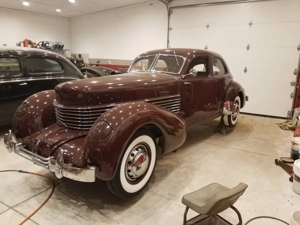 1936 Cord 810 Westchester / Beverly interior 1936 Cord 810 Sedan with custom Leather Beverly interior ACD Certified