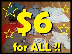 SMALL BAG of BOYS Summer Clothing Lot (12 Mos) --- $6 for ALL!