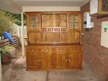 SOLID TIMBER KITCHEN / DINING CABINET WITH STAINED GLASS DOORS Wynn Vale Tea Tree Gully Area Preview
