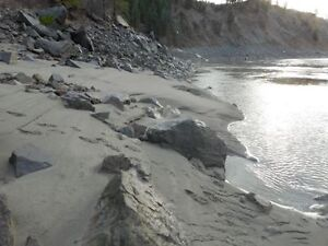Placer claim of Fraser river by Lytton
