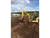 Komatsu pc15 ha mini digger excavator