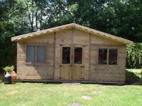16ft x 8ft summer house/ shed/ office/ garden building
