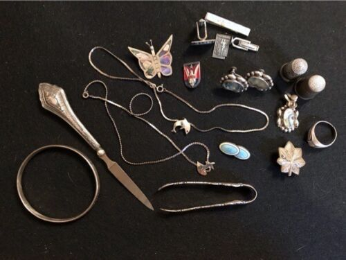 LOT OF MISCELLANEOUS STERLING ITEMS