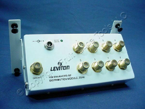 Leviton 1x8 Enhanced Video Distribution 2GHz RF Amp Module Splitter 47692-GSM