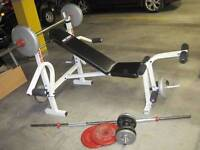 BENCH PRESS ET ENSEMBLE DE POIDS