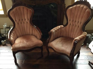 High quality Queen Anne gentlemen's and ladies chair