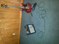 Washburn electric guitar with accessories