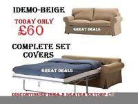 NEW Ikea Ektorp 2 Seater Sofa Bed Covers + 2x2 Corner Sofa - Salon Reception Desk Barber Pole Chair