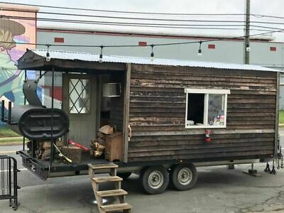 8.5 X 19 Bbq Concession Trailer With Porch For Sale In Virginia