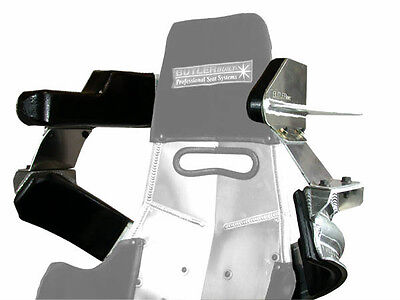 BUTLERBUILT UNIVERSAL HEAD SHOULDER KIT ALUMINUM BLK PAD 22007-4703 SHORT IMCA