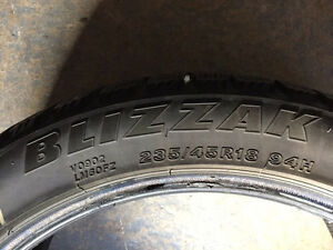 235/45R18 winter Bridgestone Blizzak