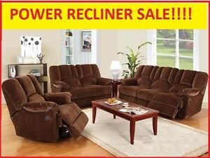 POWER! Reclining Sofa & Love Set $1699.99 @ Yvonne's Furniture
