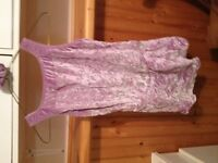 SPARKLY LAVENDER COLOUR SKATING DRESS WITH HAIR SCRUNCHY