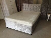 crush velvet divan bed base
