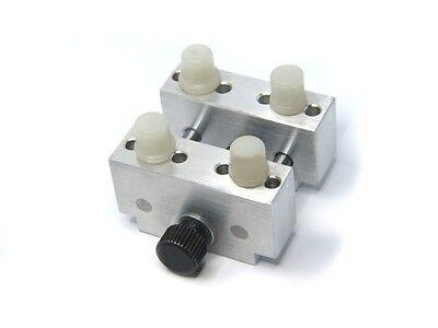 Gehäusehalter ALU Massiv Uhrmacherwerkzeug mit 4 Pins NEU