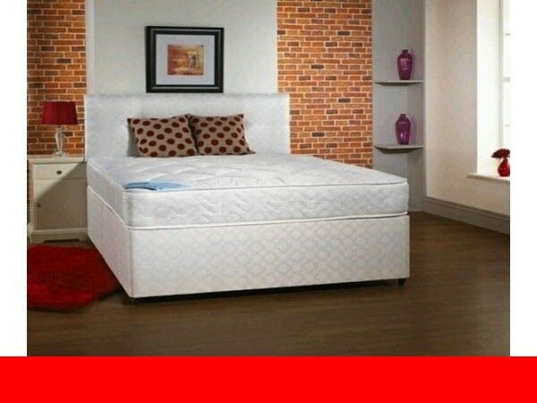 SAME DAY DELIVERY ALL OVER LONDON -NEW DOUBLE DIVAN BASE WITH DEEP QUILT SEMI ORTHOPEDIC MATTRESS