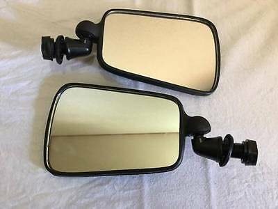 VW BUG DOOR SIDE MIRROR BRASILIA BEETLE 60-79 Black Plastic 2pcs Left Right T3