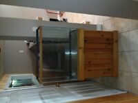 35 gallon tank and Wood stand
