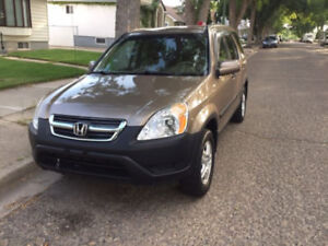 2003 Honda CRV 4wd low kms