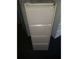 4 Drawer Filing Cabinets c/w keys