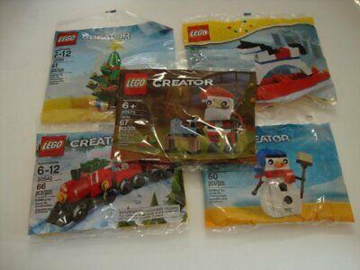 LEGO Creator 30186 30197 30573 30543 40035 Christmas Tree Train Snowman Santa