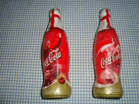 Coca Cola bottles, 2002 World Cup Football, KoreaJapan, England players no.2 Cole and no.4 Seaman