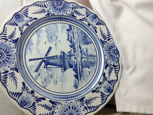 Delft Blue Collectible Plates from Holland