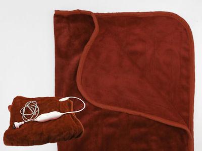 15 electric throw blanket 160x130cm chocolate mains 240v bulk wholesale lot