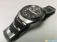 Seiko Automatic Black Stainless Steel Watch with Date