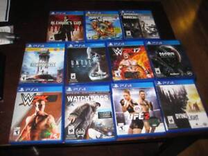 11 ps4 games (prices vary )