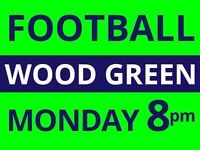Friendly 5 a side football every Monday 8pm next to Wood Green needs players