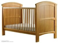 Cossatto Hogarth 3 in 1 bed cot bed and matching tallboy