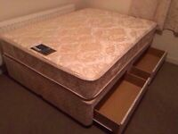 Myers double divan bed with drawers-Free delivery