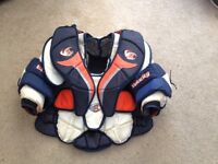 Various New and Used Goalie Equipment