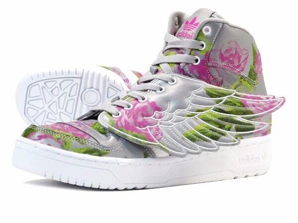 ccf0ce494c01 Adidas Originals Jeremy Scott Wings Floral Reflective Grey