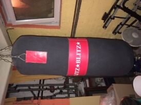 Punch Bag in good condition - Blitz, 3ft, wall or ceiling mounted