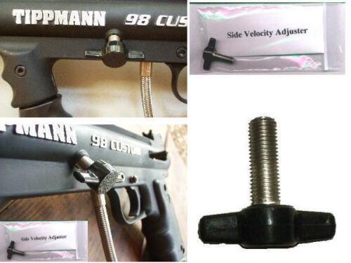 NEW UPGRADE for Tippmann Model 98 & Custom ! Paintball Marker Velocity Adjuster