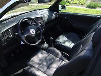 Golf mk4 cabriolet artificial leather seat covers in black, black/beige, black/grey or beige