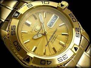 SEIKO 5 SPORTS MENS AUTOMATIC SNZB26J1 FREE EXPRESS GOLD JAPAN MD SNZB26 WATCH