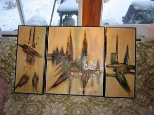 Several R. PARRET SIGNED ABSTRACT EXPRESSIONISM ART OIL PAINTING West Island Greater Montréal image 6