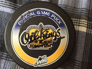 Oil Kings Signed Game Puck