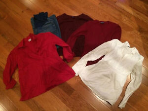 Lot of size large maternity clothes London Ontario image 1