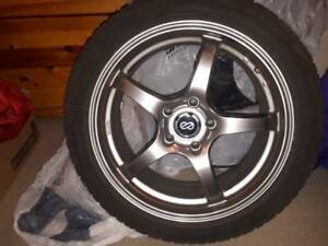 "17"" ENKEI WHEELS VR5 Series(5x114.3) with Tires - $1000 Firm"