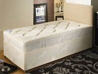 Single Bed 24cm M-Firm Orthopaedic Mattress BRANDNEW Headboard/Drawer Options Can Deliver Today