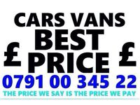 07910034522 WANTED CAR VAN FOR CASH BUY YOUR SCRAP SELL MY SCRAPPING K